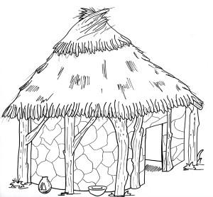 La capanna africana