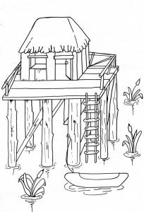 La palafitta in legno