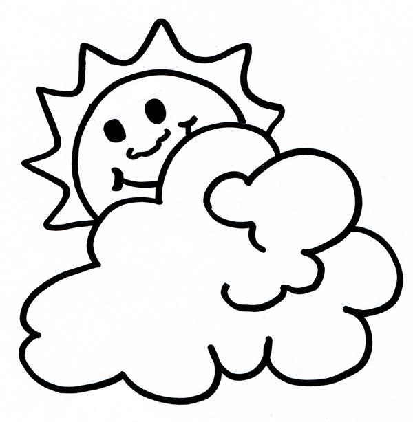 Sole e nuvola per la festa degli alberi a scuola di for Immagini sole da colorare