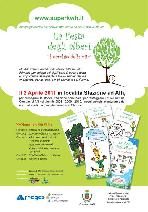 """""""Festa degli alberi"""" ad Affi il 2 aprile 2011"""