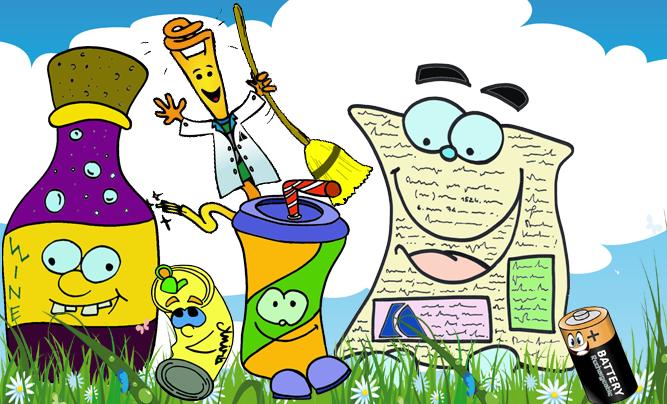 Mr Kilowattora e gli amici rifiuti