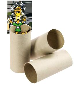 Idee originali per riciclare rotoli carta igienica