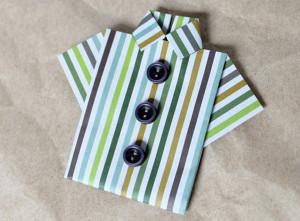 Camicia origami in carta riciclata