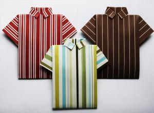 Camicie origami in carta riciclata