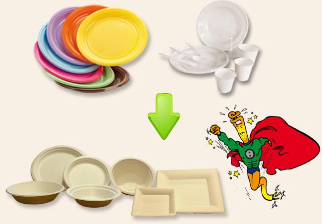 Scuole Milano, da piatti di plastica a piatti biodegradabili