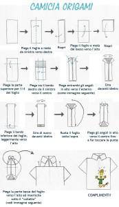 Istruzioni camicia origami italiano