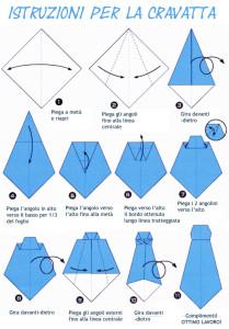 Istruzioni cravatta origami ita