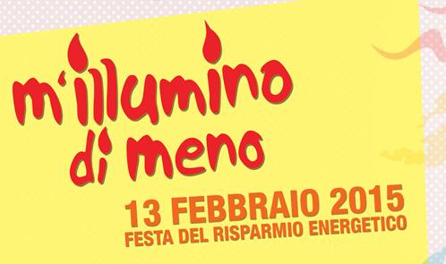 Festa del risparmio energetico m'illumino di meno 2015
