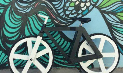 Bicicletta carta riciclata