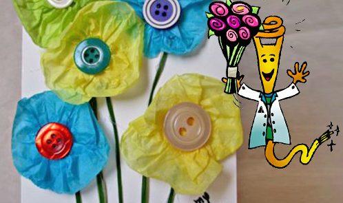 Biglietto auguri per festa della mamma con materiale riciclato